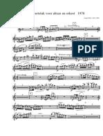 Concertstuk Voor Altsax en Orkest - Parts