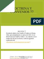 Doctrina y convenios 77