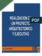 Realizacion de Proy Arquitectonico y Ejecutivo