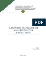 El Analisis de Gestion Administrativa