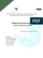 Relatório 1- Preparo de Soluções