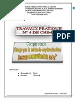 TRAVAUX PRATIQUE 4 DE CHIMIE