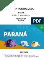 Língua Portuguesa 2ªsérie Slides Aula 45