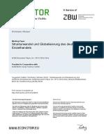 Strukturwandel Und Globalisierung Des Einzelhandels