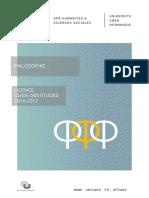 Guide des études Philosophie_Licence_2016 2017 Final