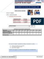 CRITERIOS DE EVALUACION  DE CONOCIMIENTOS - COMUNICACIÓN