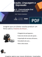 Webinar 03 - Comunicação oral - Variações Linguísticas