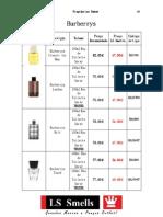 Lista Perfumes Homem Ctg 2011