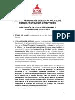 ANTEPROYECTO DE LEY DEL EJERCICIO DE LA PROFESION DOCENTE