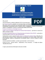 Análise do edital TCE PI_Auditor de Controle Externo e Assistente de Administração