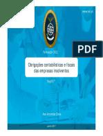 Seg2617 - OBRIGAÇÕES CONTABILÍSTICAS E FISCAIS DAS EMPRESAS INSOLVENTES