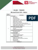 Silabus Temario Excel Básico 2019
