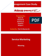 Service Marketing Radio Mirchi