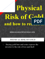 Physical Risk of Gold