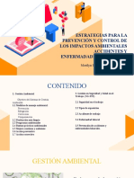 Estrategias para la prevención y control de los impactos ambientales, accidentes y enfermedades laborales