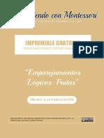 Imprimible Emparejamientos Lógicos - Frutas 13x13