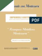 CCM - Resaques Metálicos Montessori