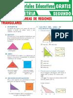 Ejercicios de Áreas de Regiones Triangulares Para Segundo Grado de Secundaria