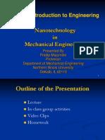 UEET101-Nanotech in Mechanical Engineering