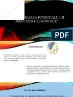 Valorificarea Potentialului Uman Prin Creativitate