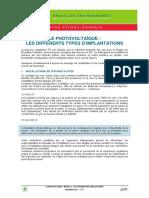 LE PHOTOVOLTAÏQUE LES DIFFERENTS TYPES D'IMPLANTATIONS