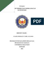 TUGAS 1 - ZULQIFLI HEDRIANTO TAHIR - G2T120006 - MANAJEMEN RESIKO & KESELAMATAN KERJA