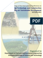 Proceeding of Int. Conference on Environmental Technology and Construction Engineering for Sustainable Development 2011