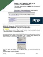 Sous Thunderbird (Linux - Windows - Mac os X) Mise en fonction du répondeur automatique.