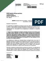 Respuesta petición concejal Diego Cancino sobre Transmilenio
