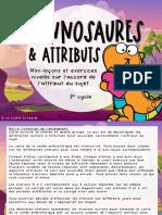 Mini-leçon - Tyrannosaures Et Attribut - Exercices Nivelés