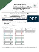Examen de Fin de Formation (Corrigé)