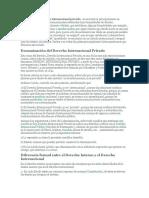 Las normas de derecho internacional privado