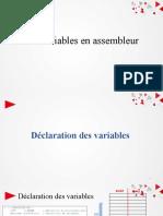 Temporisation -Les variables en assembleur