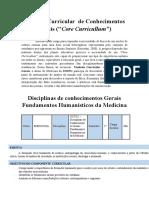 Fundamentos Humanísticos - Cronograma de Aulas [Medicina]