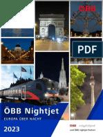 ÖBB Nightjet Europa über Nacht