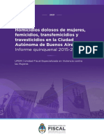 UFEM Informe Quinquenal 2015 - 2019
