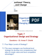 Organizational or Organisational Design and Strategy in Changing Environment