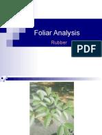 Foliar Analysis