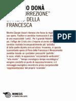 Massimo Donà, La «Resurrezione» Di Piero Della Francesca