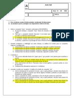 Avaliação Pesquisa  - Autocad - 2D (2)