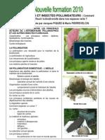 Plantes et abeilles 2010