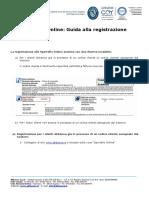Guida alla registrazione sportello