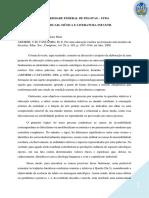 Ficha de Leitura 2 - Por Uma Educação Estética Na Formação Universitária de Docentes