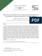$Bidirectional associations between temperament and parenting