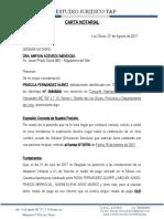 Carta Notarial Acevedo Priscila