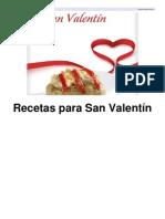 Recetario Recetas Para San Valentin