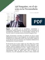 ANTONIO SANGUINO EN EL OJO DEL HURACAN EN LA PROCURADURÍA