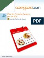 Sencillo Plan de Comidas Express Libre de Gluten por 14 dias