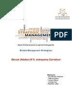Atelier 6 _ management stratégique