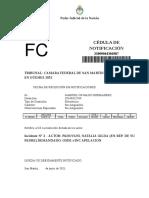 Fallo CÁMARA - Rechazan Apelación Amparo PADOVANI